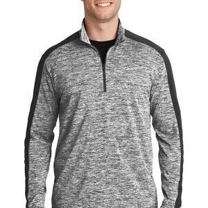 PosiCharge ® Electric Heather Colorblock 1/4 Zip Pullover Thumbnail