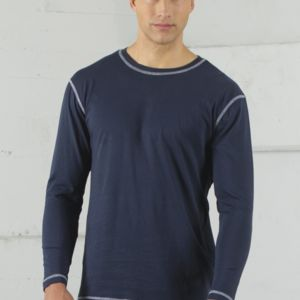 ATC EUROSPUN RING SPUN CONTRAST STITCH LONG SLEEVE TEE Thumbnail